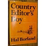 img - for Country Editor's Boy by Borland, Hal Glen (1970) Hardcover book / textbook / text book