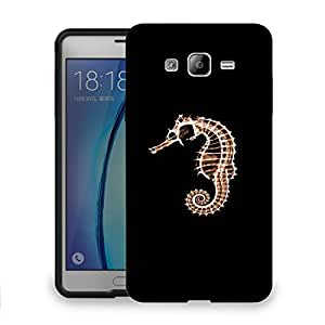 Snoogg Sea Horse Fish Designer Protective Back Case Cover For SAMSUNG ON 7