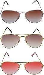 Shoaga Men's Aviator Sunglasses (Brown)