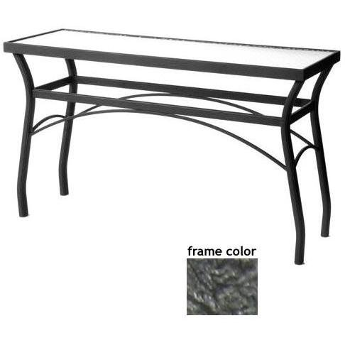 Sterling 18 X 54 Inch Aluminum Rectangle Console Table - Glass With Scavo Iron Frame