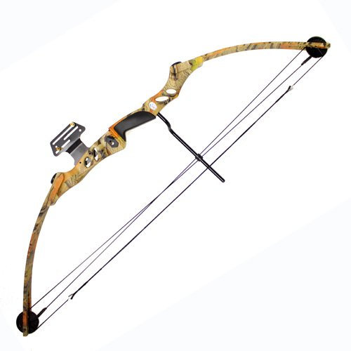 55 lb 29'' Compound Bow w/ 5-Spot Paper Target - Autumn Camo