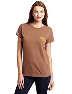 Swamp People Women's Lucky Liz Short Sleeve Tee (Chestnut, Small)