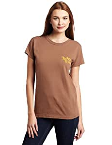 Swamp People Women's Lucky Liz Short Sleeve Tee (Chestnut, XX-Large)