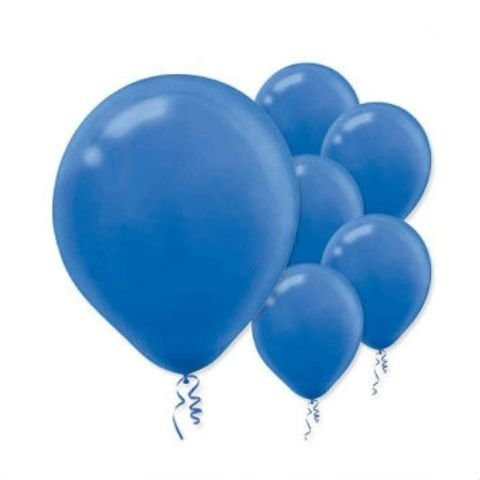 "Amscan Bulk Solid Color Latex Balloons, 12"", Bright Royal Blue"