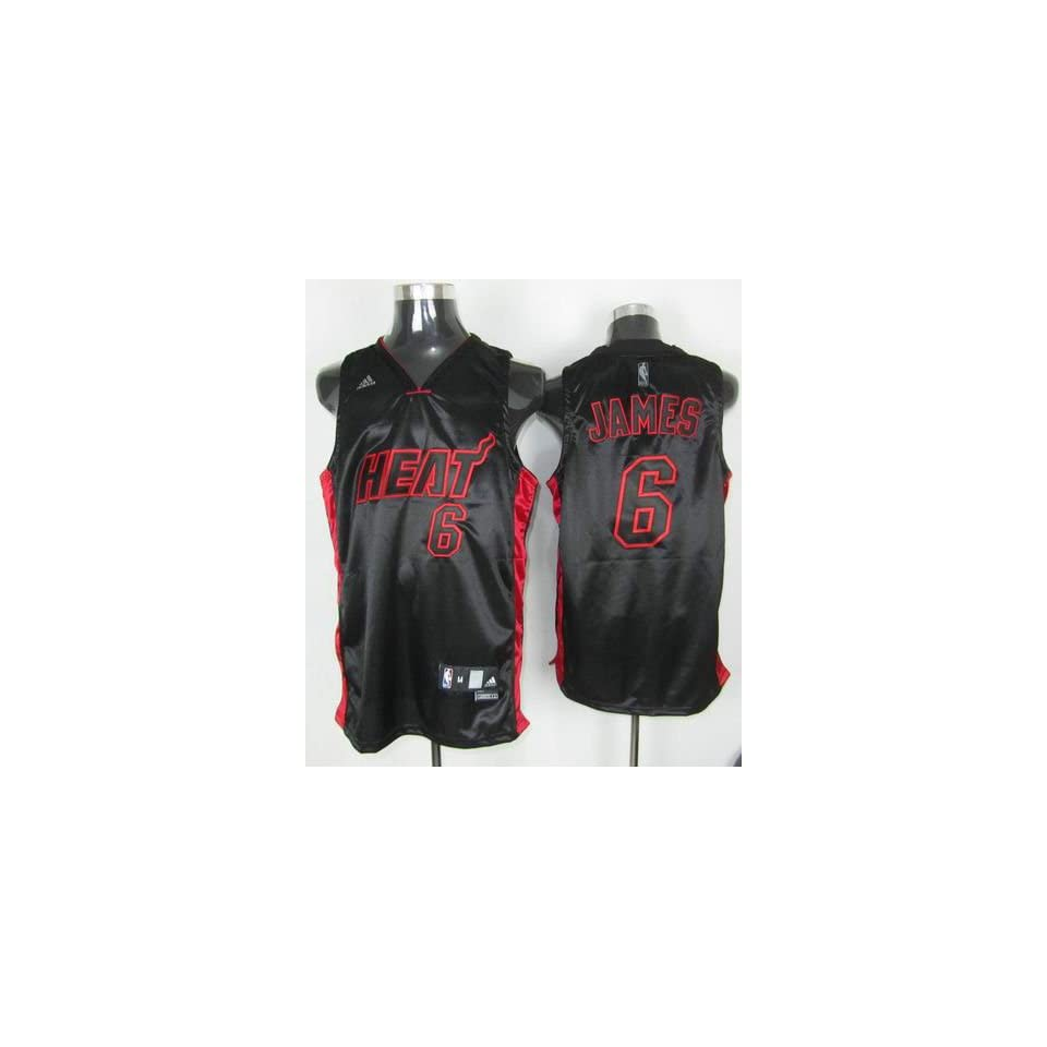 c512ddc11d0 Miami Heat Lebron James Red on Black Jersey size 52 XL on PopScreen