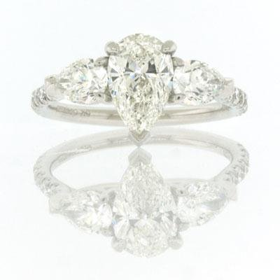 2.21ct Pear Shape Diamond Engagement Anniversary 