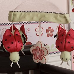 Kids Line Musical Mobile - Lady Bug