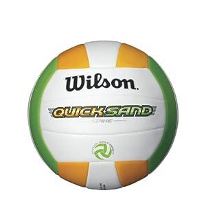 Buy Wilson Quicksand Spike Volleyball, Orange Green by Wilson