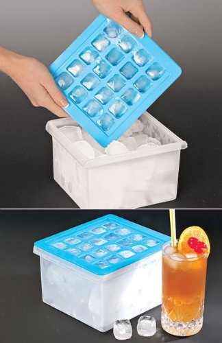 Ice Cube Tray with Storage Container Bin
