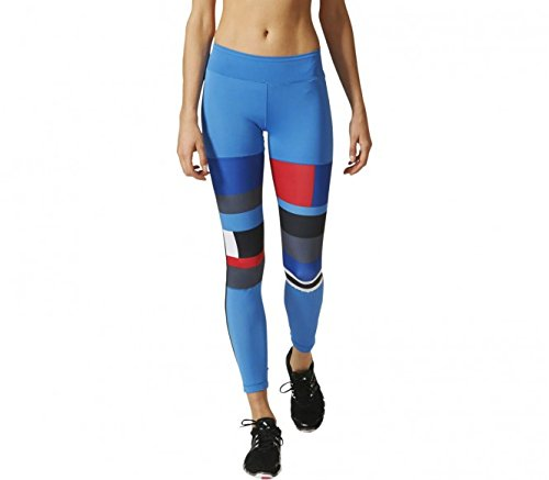 Adidas WOW Women's Printed Tights - AW16 - X Small - Blue