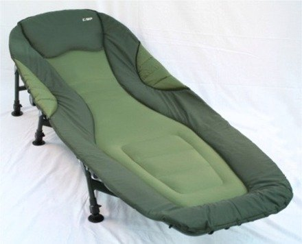 Carp Zone - Padded Six Leg Carp Fishing Bedchair with Removable Wellie Wipe