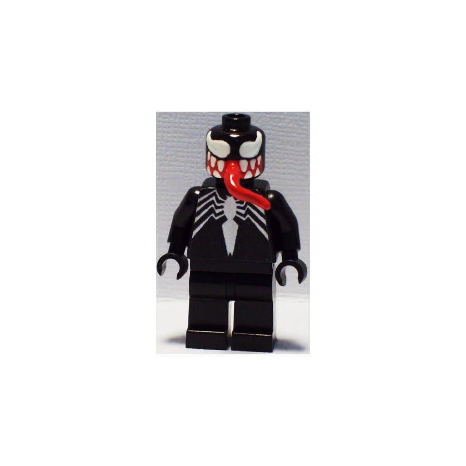 Custom Lego Spiderman Enemy Venom Minifig Figure Amazing Ultimate Spectacular Movie 2012 Minifigure