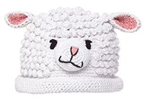 White Lamb Hat Chenille Medium