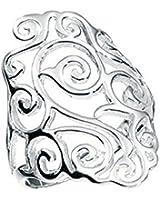 Bague en Argent- Diamant Forme filigrane- taille