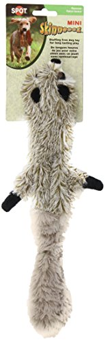 Ethical-Mini-Skinneeez-Raccoon-14-Inch-Stuffingless-Dog-Toy