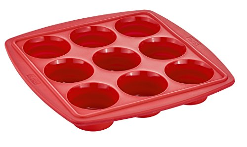 Tefal J4094714 Proflex Moule à 9 Muffins Rétractable Framboise
