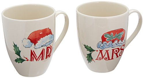 Lenox Home for The Holidays Mr. and Mrs. Mug Set, Ivory