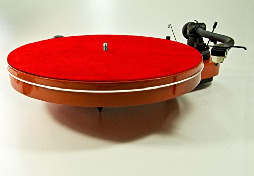 Analogis Mat Six Red Plattentellerauflage Leder rot