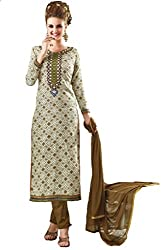 Om Creation Multicolor Embroidered cotton Salwar Suit HS9