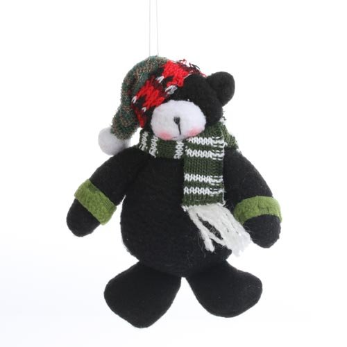Set of 12 Holiday Decorated Plush Bear Christmas Ornaments