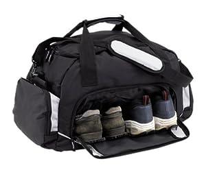 sporttasche grau schwarz reisetasche mit schuhfach amazon. Black Bedroom Furniture Sets. Home Design Ideas