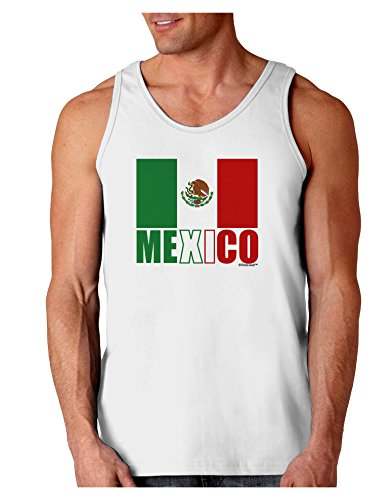 TooLoud Mexican Flag - Mexico Text Loose Tank Top