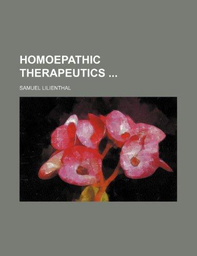 Homoepathic therapeutics