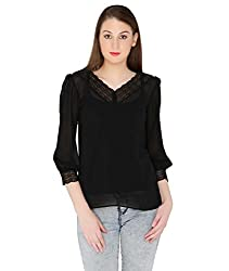 Fashion Tadka West Black Casual Top For Women