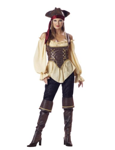 Rustic Pirate Lady Adult M Halloween Costume - Adult Medium