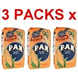 Harina PAN 3 PACK Yellow Corn Meal Flour 3 x 1 Kg Venezuela