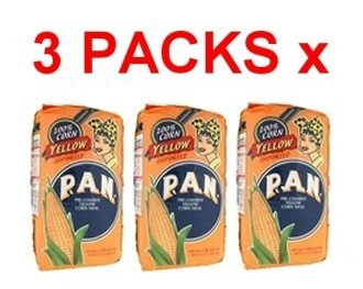 Harina PAN 3 PACK Yellow Corn Meal Flour 3 x 1 Kg Venezuela (Pan Corn Flour compare prices)