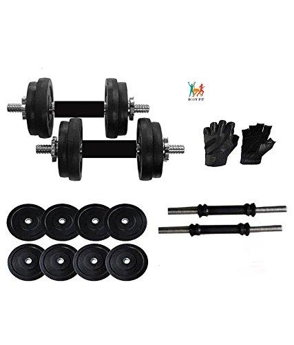 Bodyfit Home Gym Adjustable Dumbells 12 Kg