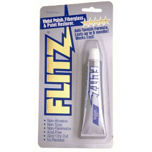 Flitz Metal, Plastic and Fiberglass Polish Paste in 1.76-Ounce Blister Tube