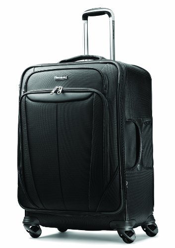 Samsonite Luggage Silhouette Sphere Expandable 25 Inch Spinner, Black, One Size