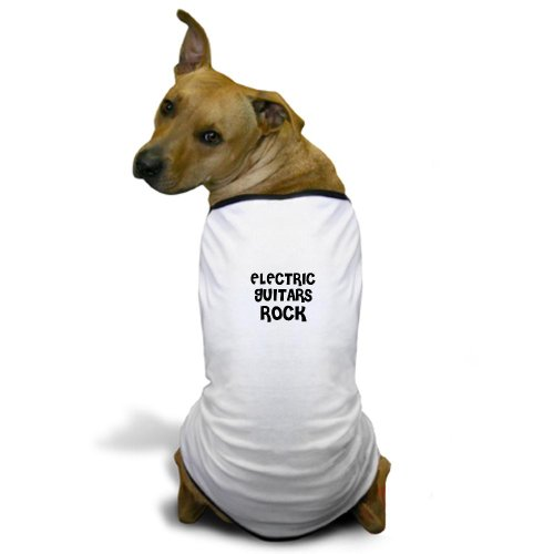 Cafepress Electric Guitars Rock Dog T-Shirt - M White [Misc.]