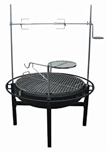 Rancher Fire Pit Charcoal Grill with Rotisserie,