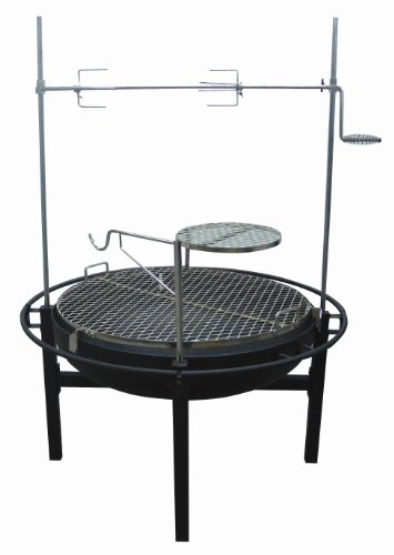 Rancher Fire Pit Charcoal Grill with Rotisserie, 31-Inch (Cowboy Cooking compare prices)