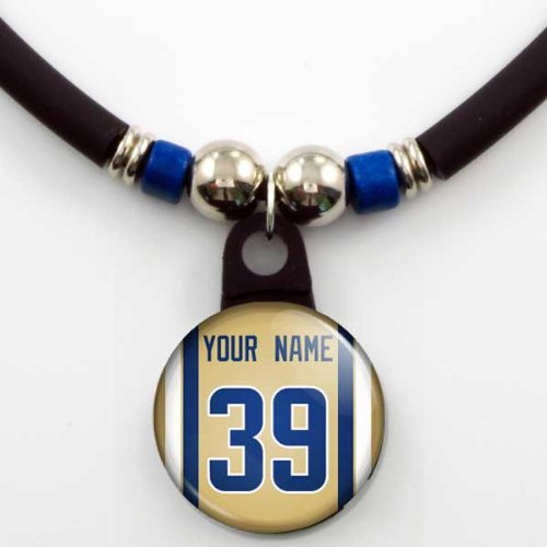 St. Louis Rams Jersey Necklace Personalized with Your Name and Number at Amazon.com