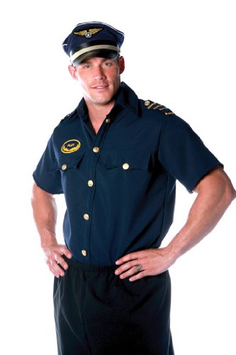 Pilot Shirt Mens One Size Adult Halloween Costume