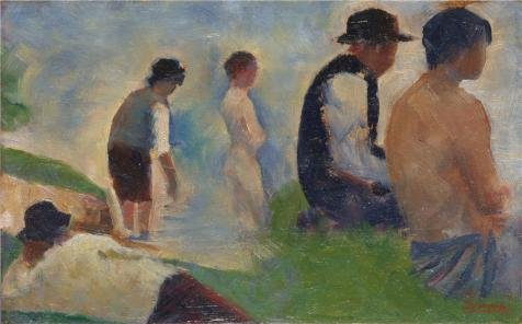 Perfect Effect Canvas ,the High Resolution Art Decorative Canvas Prints Of Oil Painting 'Georges Seurat - Study For 'Bathers At Asnieres',1883-4', 18x29 Inch / 46x74 Cm Is Best For Garage Gallery Art And Home Artwork And Gifts (Ceiling Fan Globe 10 Inch Opening compare prices)