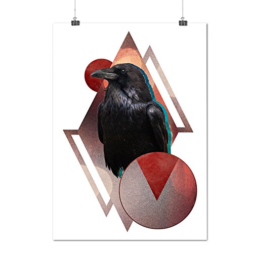 bird-wing-beak-wild-circle-crow-matte-glossy-poster-a2-60cm-x-42cm-wellcoda