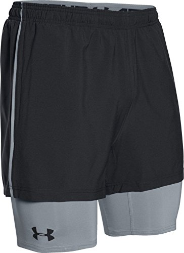 Under Armour Mirage Men's 2-in-1 Shorts black black Size:FR : L (Taille Fabricant : LG)