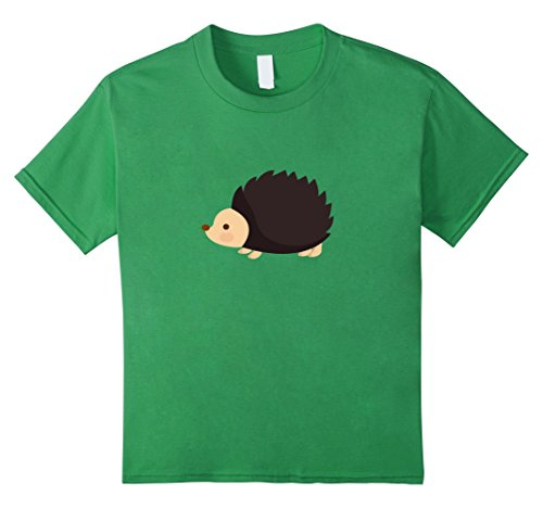 Kids Hedgehog T-Shirt for Kids Animals T-Shirts 6 Grass