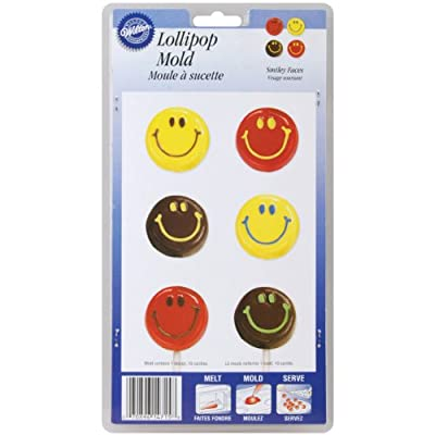 Wilton Lollipop 10-Cavity Mold, Smiley Faces