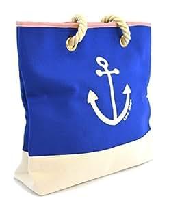 LSW Ladies Nautical Style Anchor Canvas Shoulder Bag