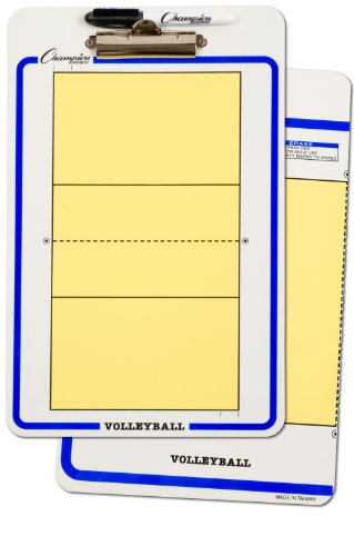 Champion Sports Volleyball Dry Erase Coach ClipboardsB0000ET93Q