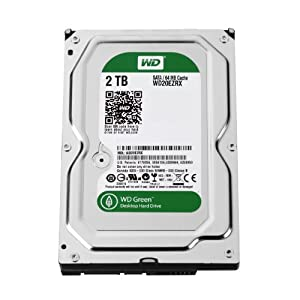 WD 2 TB Eco 3.5-inch Desktop Hard Drive Including WD Extended Warranty (Frustration Free Packaging) - Green