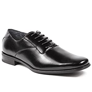 Ferro Aldo MFA-19277A Men's Black Lace Up Formal Dress Plain Oxford Shoes (11)