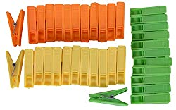 RIVER Plastic Sturdy Cloth Clips, 36 Pieces