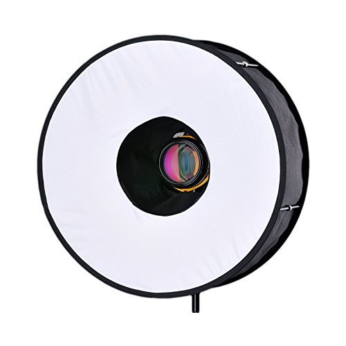 RoundFlash Diffuseur circulaire de lumière Softbox léger pour portraits et scènes immobiles sans ombres Pliable